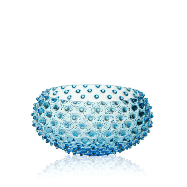Glass Azure Hobnail Bowl