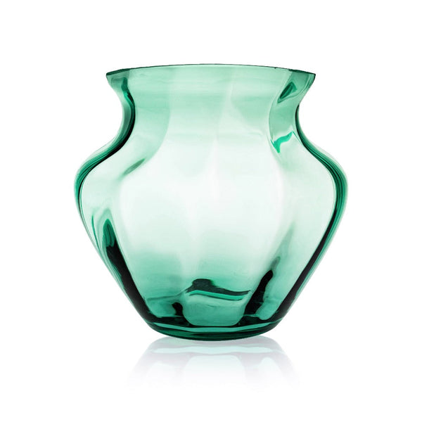 Large Glass Vase in Beryl green