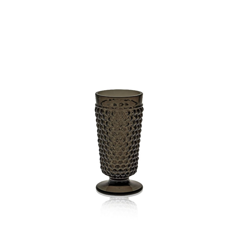 Black Smoke Glass goblet