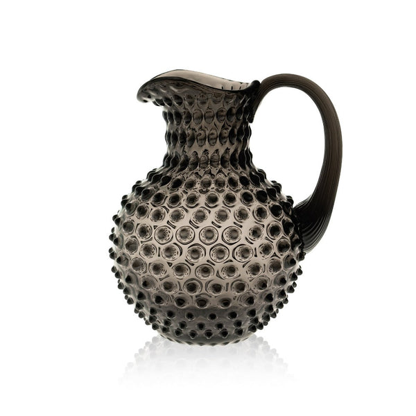 Black Smoke Hobnail Glass Jug