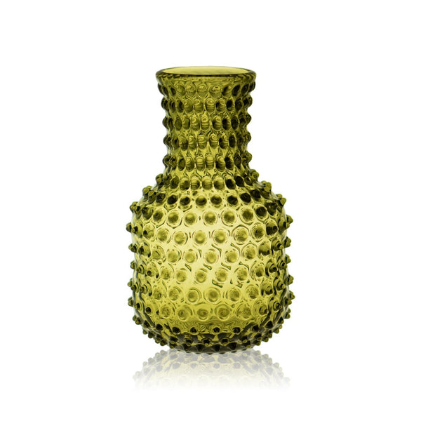 Bonsai Green Hobnail Carafe