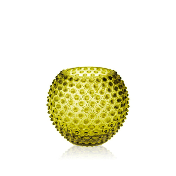 Bonsai Green Hobnail Vase