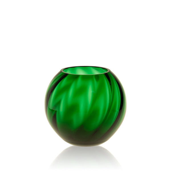 Dark Green Marika Round Vase By KLIMCHI