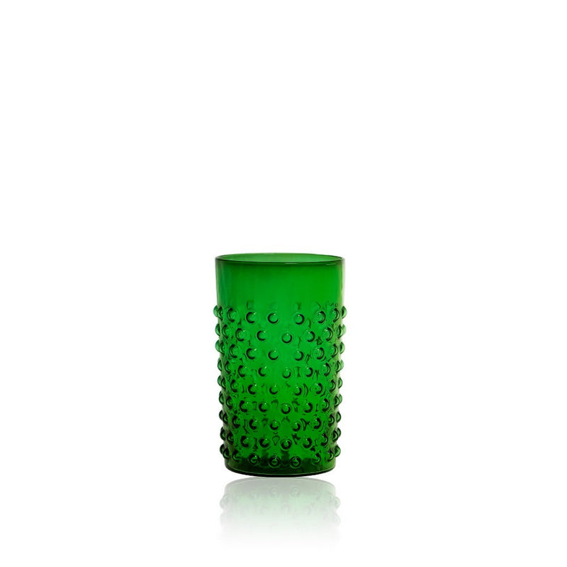 Dark Green Hobnail Tumbler (set of 6 pieces)