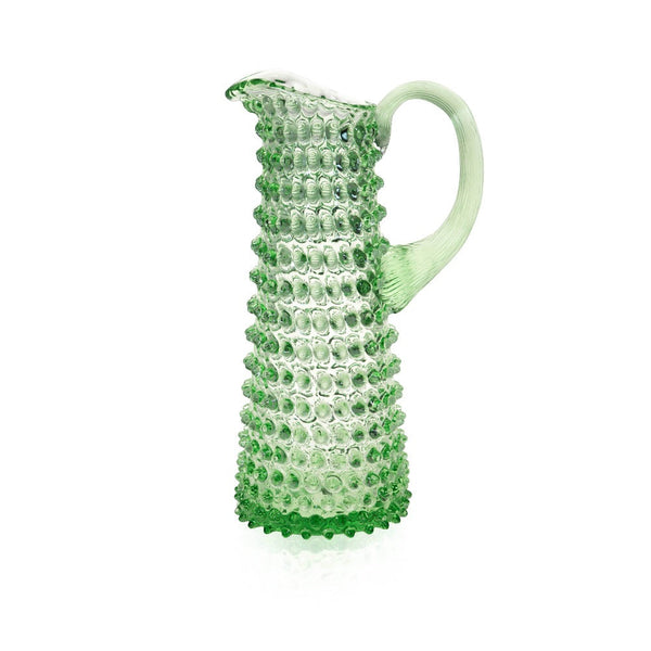 Light Green Hobnail Jug Tall