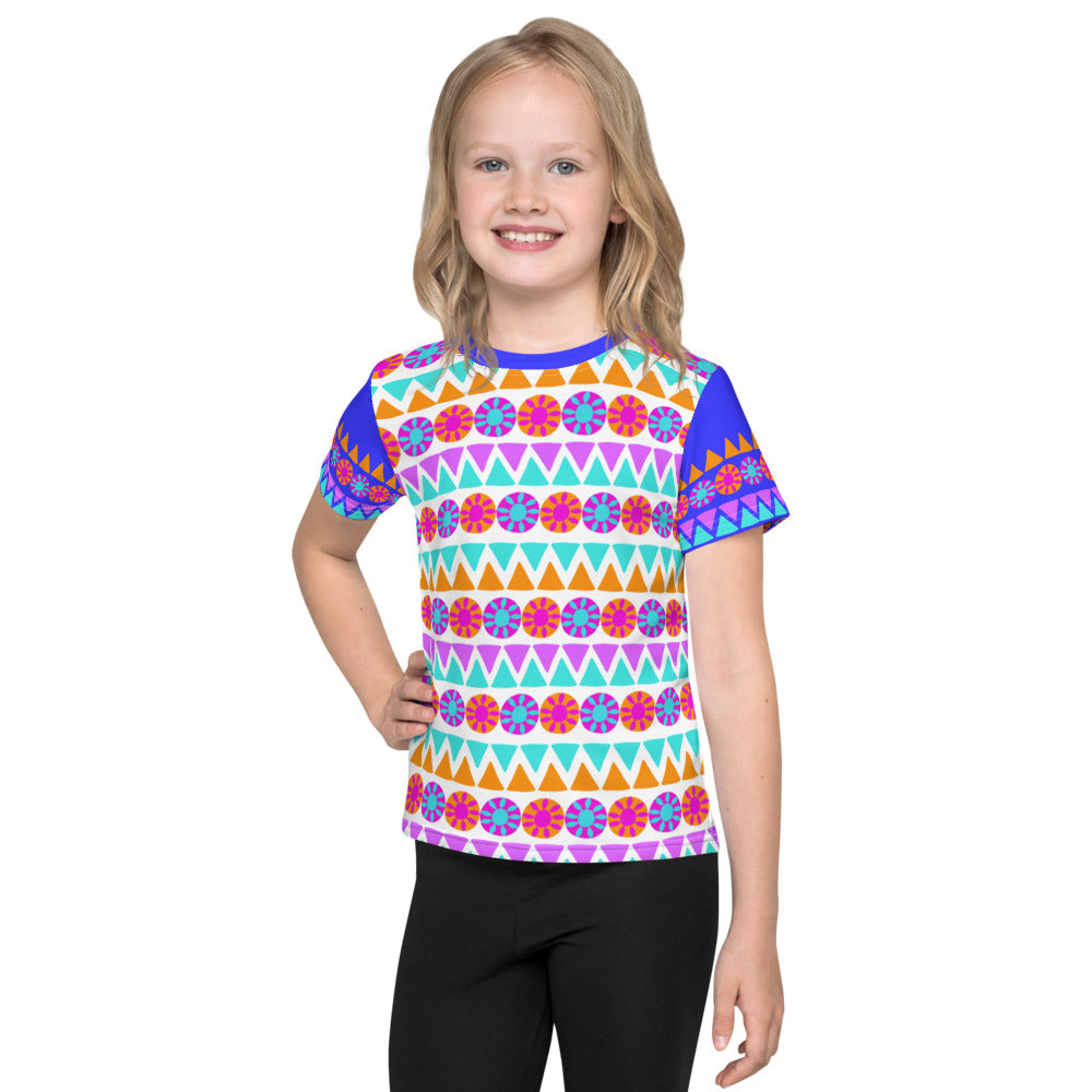 Tribal Floral -All Over Kids T-Shirt