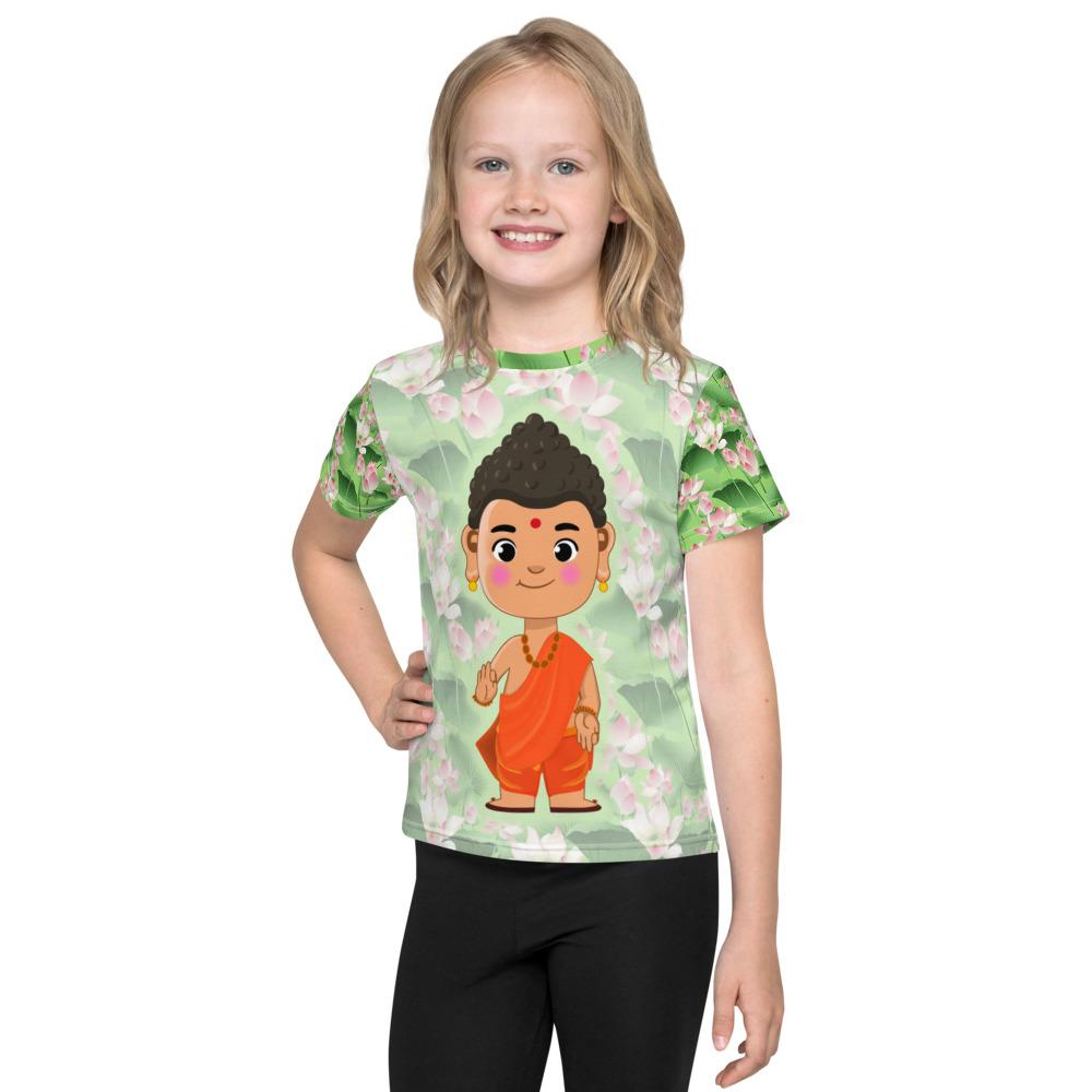 Li'l Buddha - Cute All Over Kids T-Shirt - miliandme