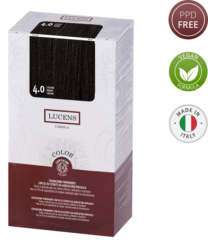 Lucens Hair Color Brown 4.0 Made in Italy
