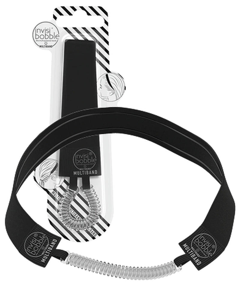 INVISIBOBBLE Multiband True Black Hair Band and Hair Tie - True Black - 2-in-1 band