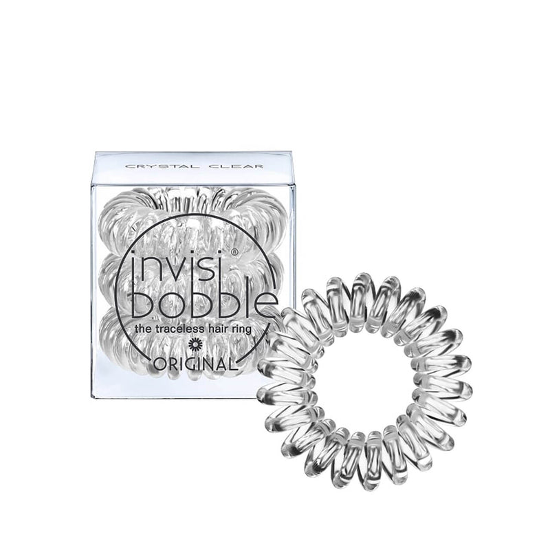 INVISIBOBBLE ORIGINAL Crystal Hair Ties, 3 Pack - Traceless, Strong Hold, Waterproof - Suitable for All Hair Types