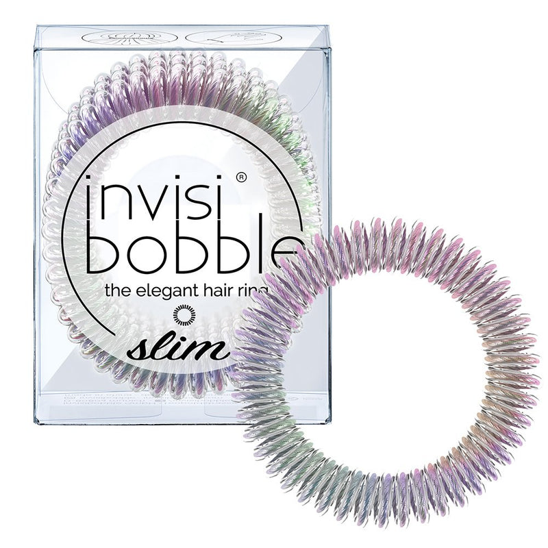 INVISIBOBBLE Slim Vanity Fairy Hair Ring Pack of 3 No Kink, Strong Hold, Stylish Bracelet - Suitable for All Hair Types