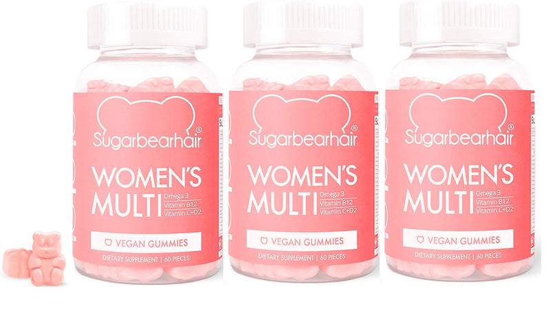 SugarBearHair Women's Multi Vegan Vitamin 60 Gummies - 3 Months Pack