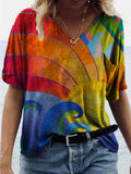 Colorful Gradient Lines T-shirt
