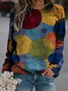 Colorful Circle Print Sweatshirt