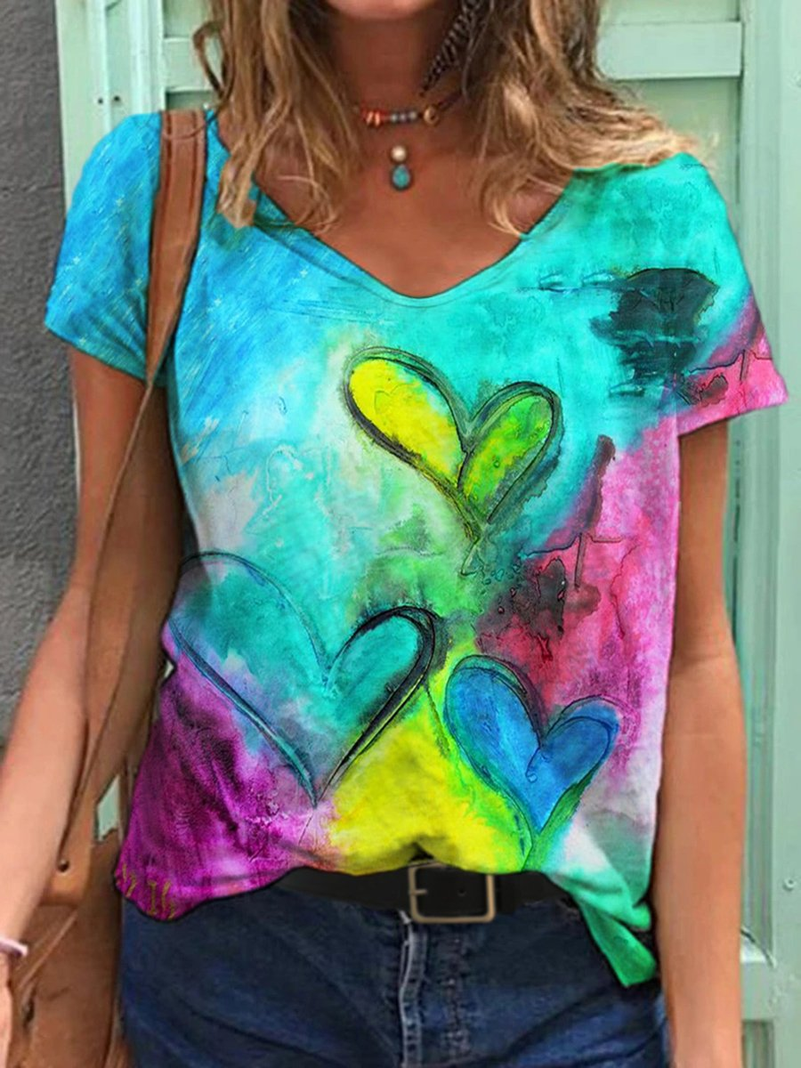 Love Painting Print T-shirt