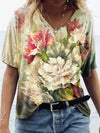 Carnation Flower Illustration Print T-shirt