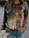 Stunning Color Block Painting Print Sweatshirt