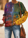 Colorful Cross Print Sweatshirt