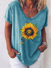 Sunflower Paw Print T-shirt