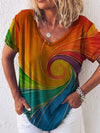 Vortex Gradients Print T-shirt