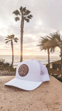 Load image into Gallery viewer, Leather Patch Trucker Hat-White