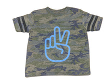 Load image into Gallery viewer, Peace- Football Stripe Tee