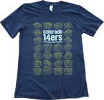Colorado 14ers Navy T-shirt