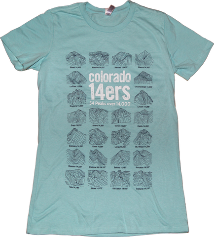 Colorado 14ers Seafoam Womens T-shirt
