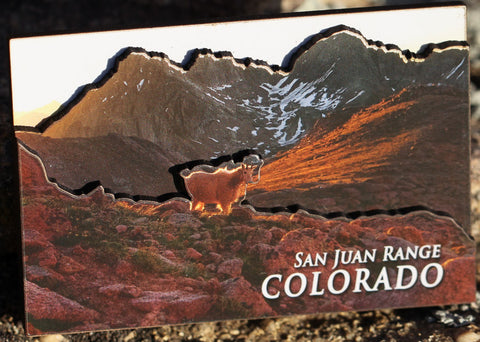 San Juan Mountains 3D Magnet