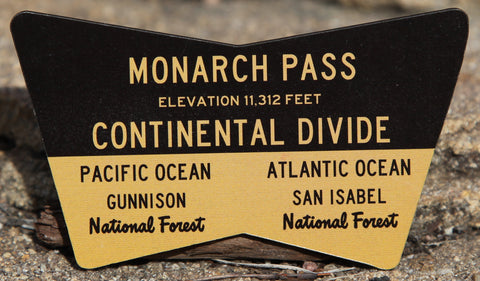 Monarch Pass Sign Magnet