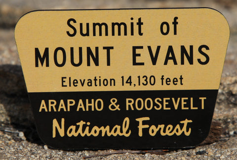 Mount Evans Summit Sign Magnet
