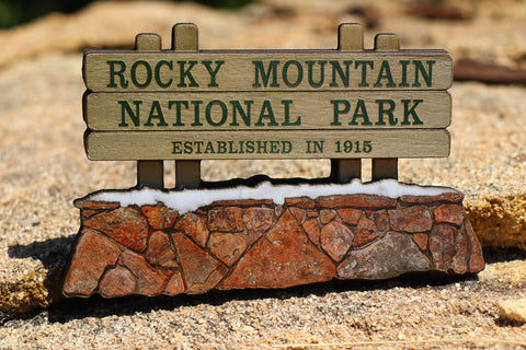 Rocky Mountain National Park Sign 3D Magnet
