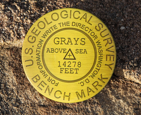 Grays Peak Summit Marker Magnet