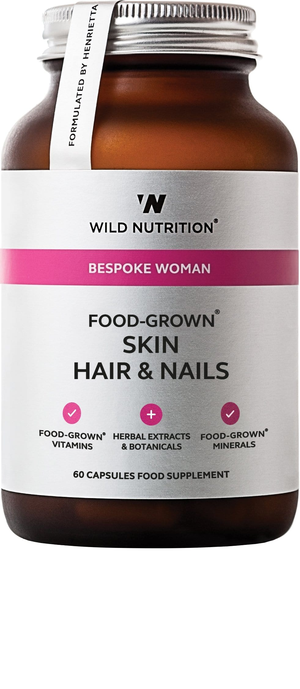 Wild Nutrition Ltd Food-Grown Skin Hair & Nails, 60 VCapsules image