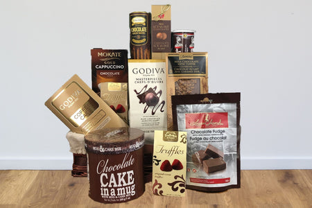 Godiva coffee chocolate chocolate toffee cappuccino cookie wafers tootsie roll chocolate truffles ice wine chocolate gift basket