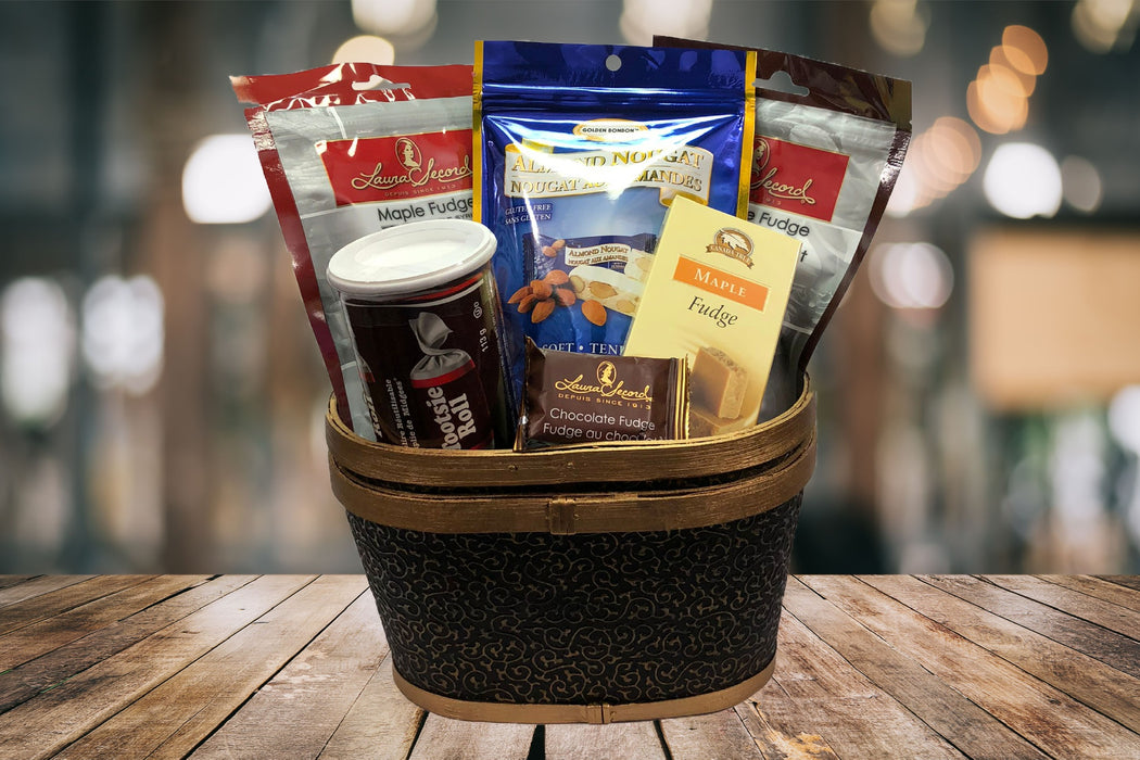 laura secord fudge tootsie roll chocolate truffles gift basket for him or her