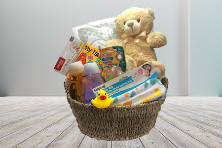 Soft baby blanket, baby products, baby toys, soft teddy bear, baby shower first baby gift basket