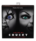 Ultimate Bride of Chucky 2 action figure pack.  Packaged in NECA's signature box, with an opening flap to view the contents.