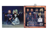 Ultimate Bride of Chucky 2 action figure pack.  Chucky and Tiffany with multiple accessories! Includes alternate heads and hands for each figure. Tiffany has alternate arms for her wedding dress look.