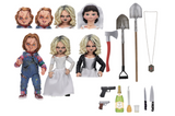 Ultimate Bride of Chucky 2 action figure pack. Chucky and Tiffany with multiple accessories!