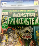 Marvel Comics Group The Monster of Frankenstein #1 CGC 9.2