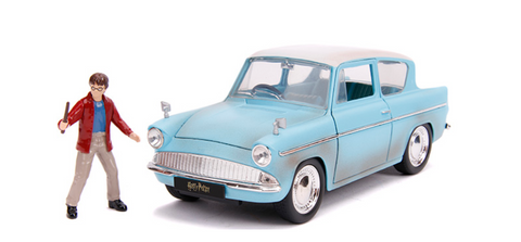 Harry Potter 1959 Ford Anglia with Harry Potter Die-Cast Figure