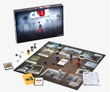Clue board game IT edition displayed with game pieces and board.