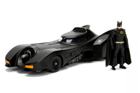 Batman 1989 Batmobile with Die-Cast Figure