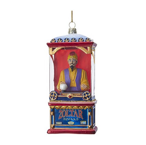 "Kurt Adler 5.5"" Zoltar in Fortune Telling Machine Glass Ornament"