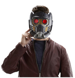 Marvel Star Lord electronic helmet shown on model