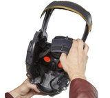 Marvel Star Lord electronic helmet inside view