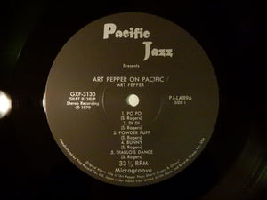 Art Pepper On Pacific Pacific Jazz GXF 3130