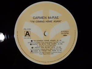 Carmen McRae I'm Coming Home Again Trio Records PA-3155/56