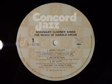 Laden Sie das Bild in den Galerie-Viewer, Rosemary Clooney Sings The Music Of Harold Arlen Concord Jazz ICJ-80236